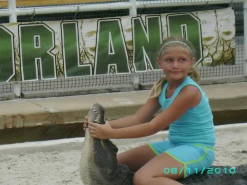 Brooke at Gatorland While Visiting Dad in Florida